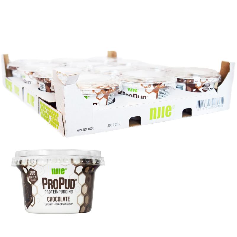 Hel Låda Proteinpudding Choklad 12 x 200g - 28% rabatt
