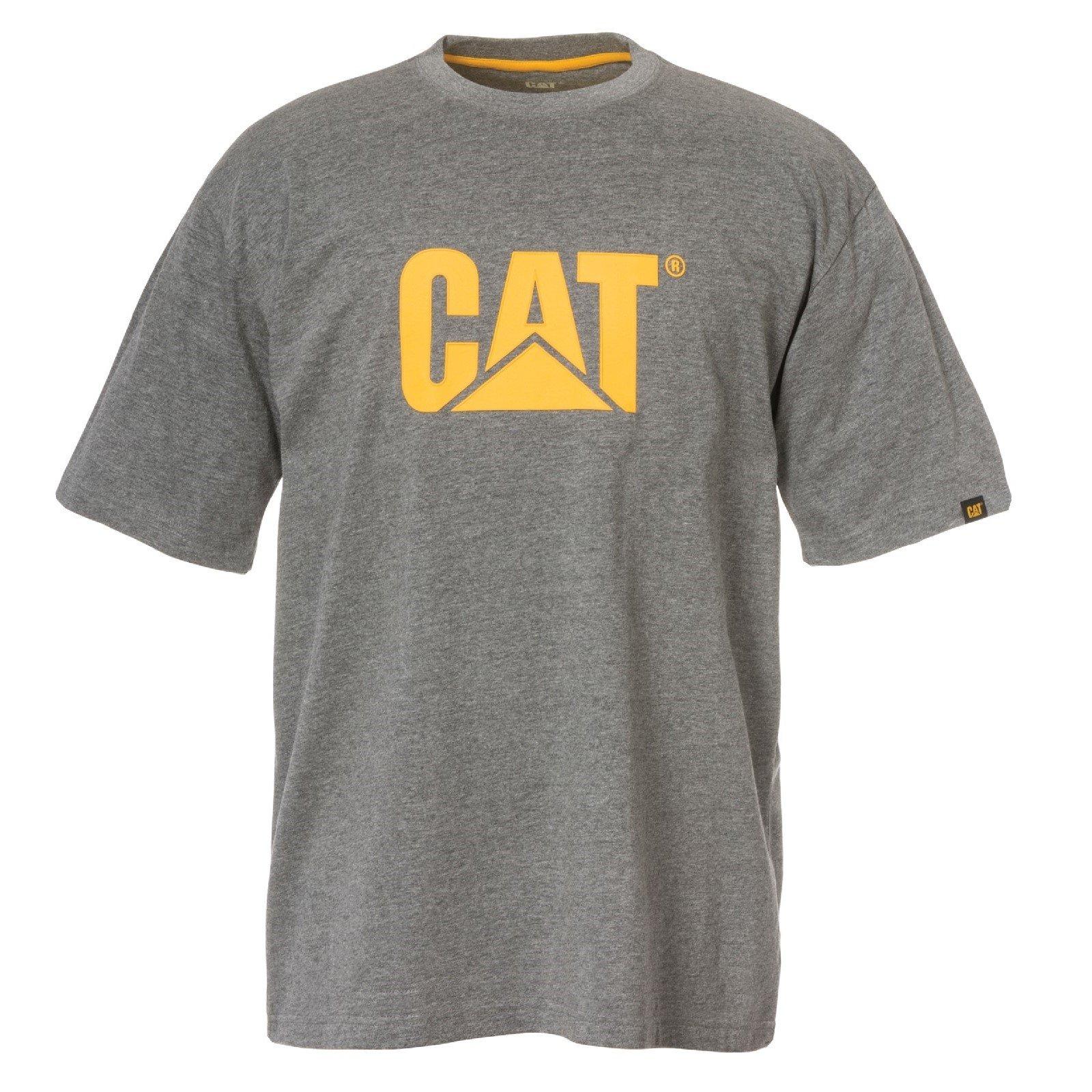 Caterpillar Men's Trademark Logo T-Shirt Various Colours 25301-42086 - Dark Heather Grey 4X