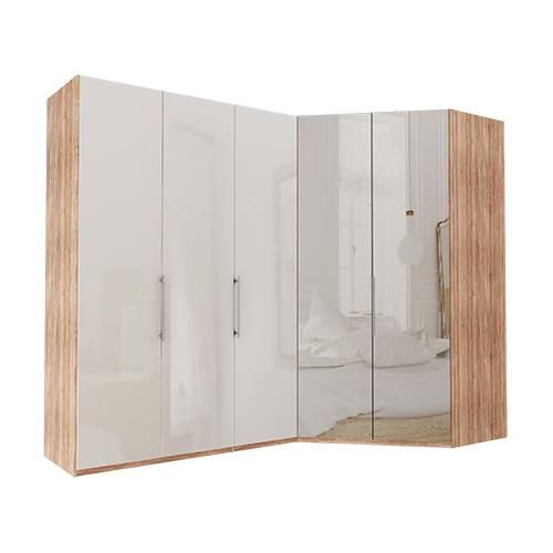 Garderobe Atlanta - Lys rustikk eik 150 cm, 216 cm, Walk-in