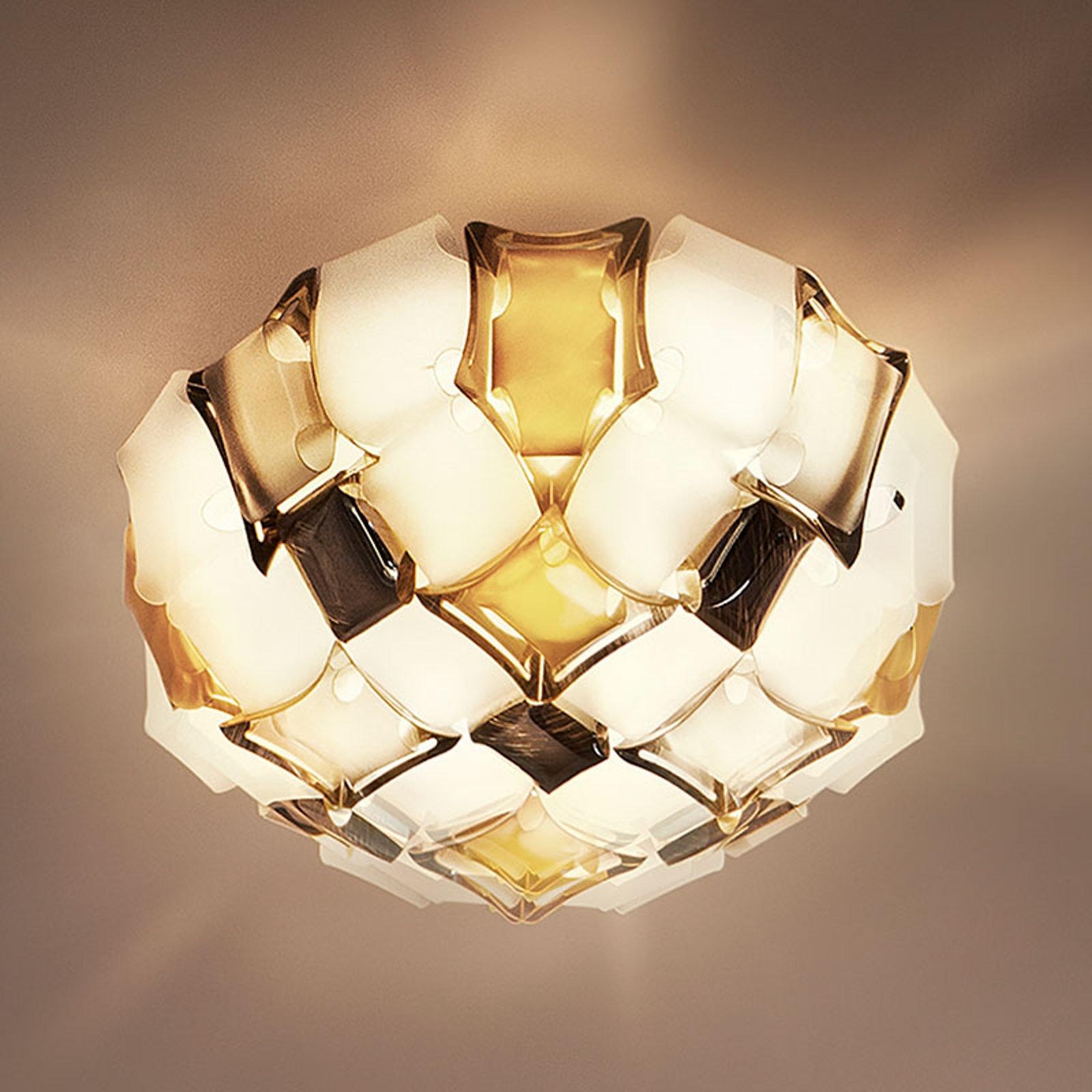 Slamp Mida taklampe, Ø 67 cm, rav/hvit
