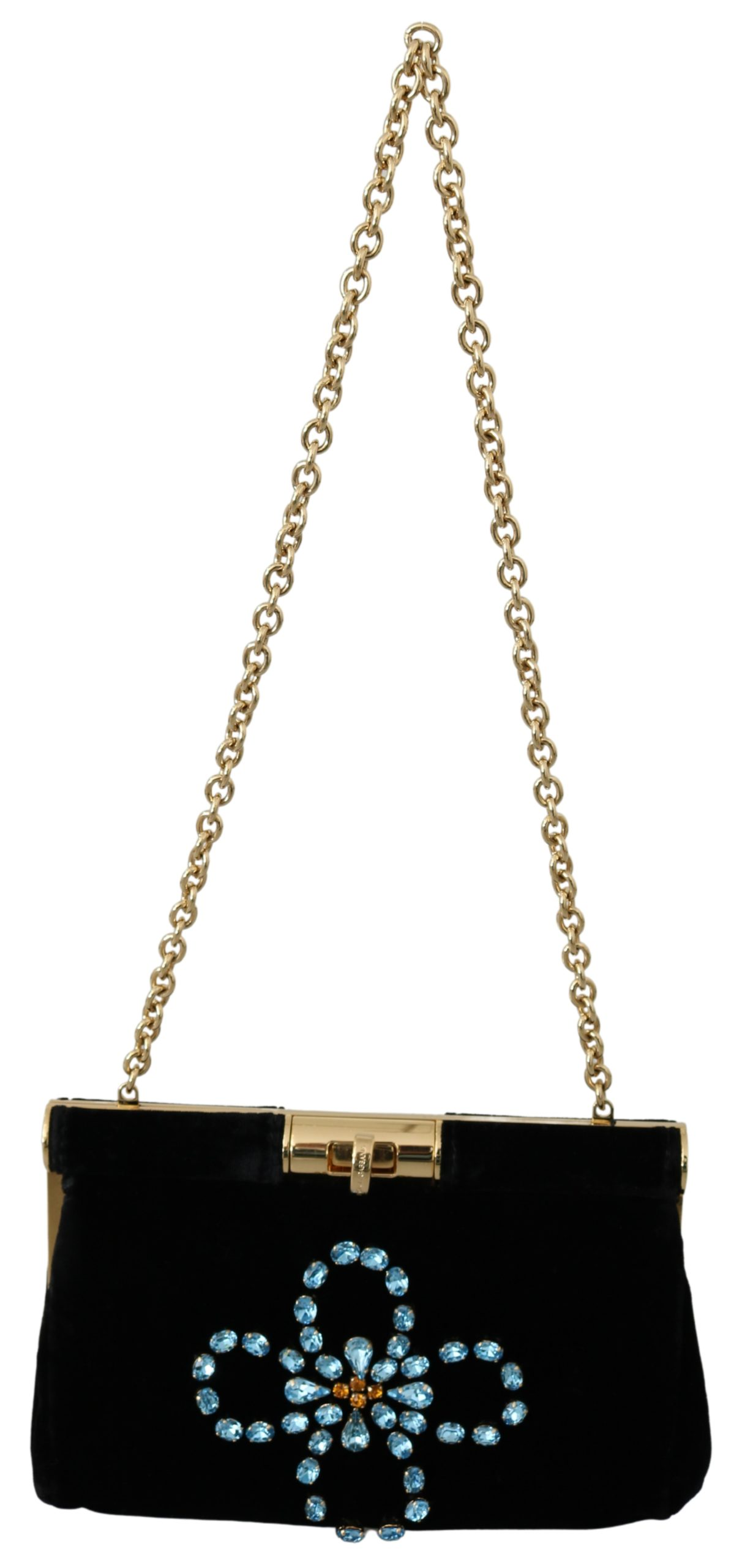 Dolce & Gabbana Women's Crystal Studs Crossbody Bag Black VAS9621