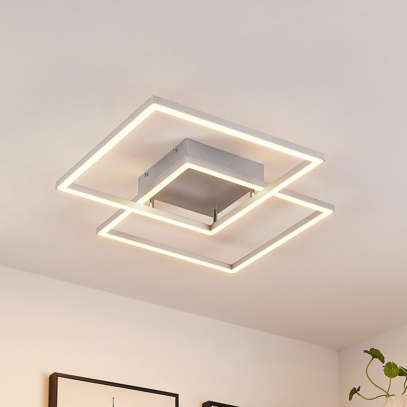 Lucande Muir LED-taklampe, kvadratisk, CCT