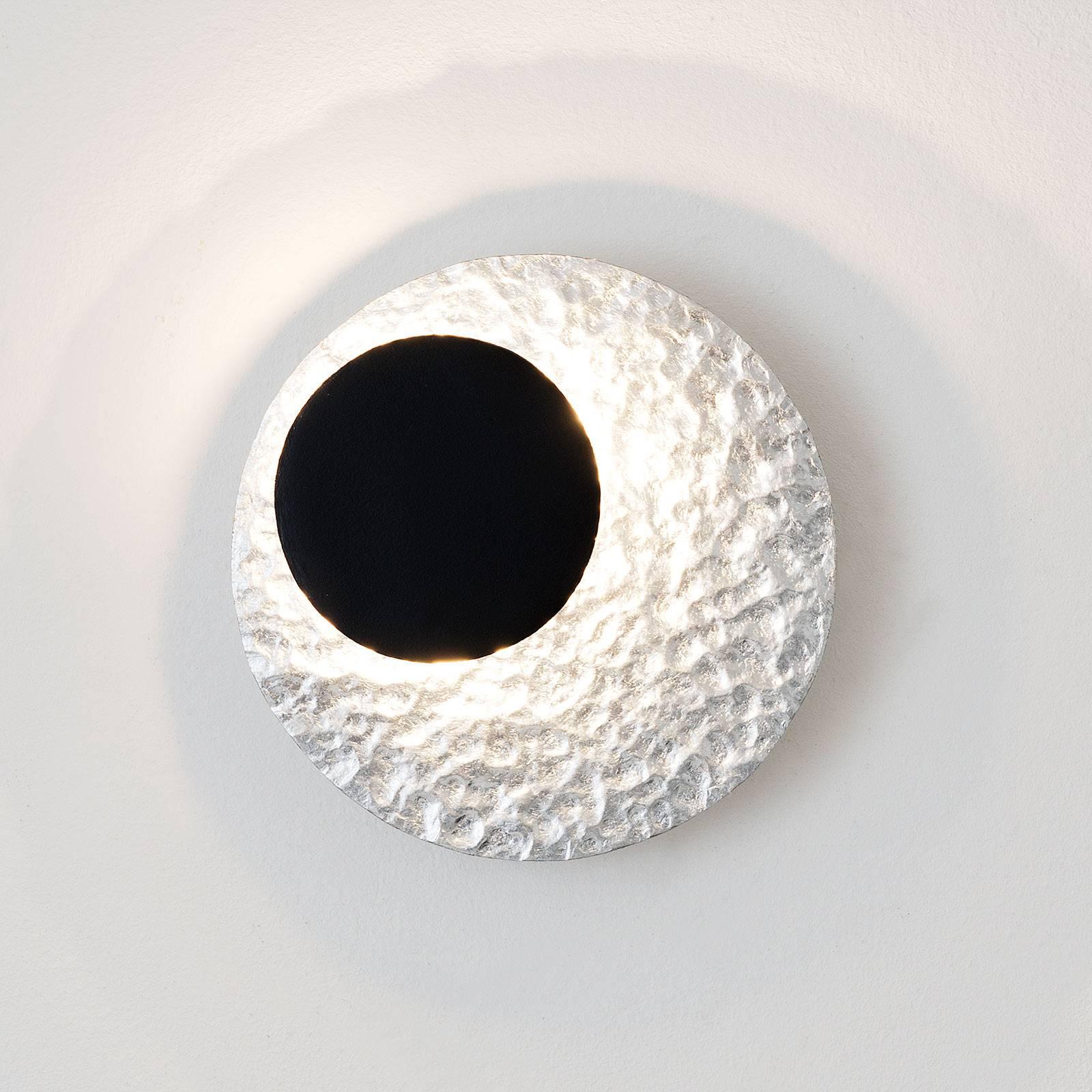 LED-seinävalaisin Infinity, hopea, Ø 20 cm