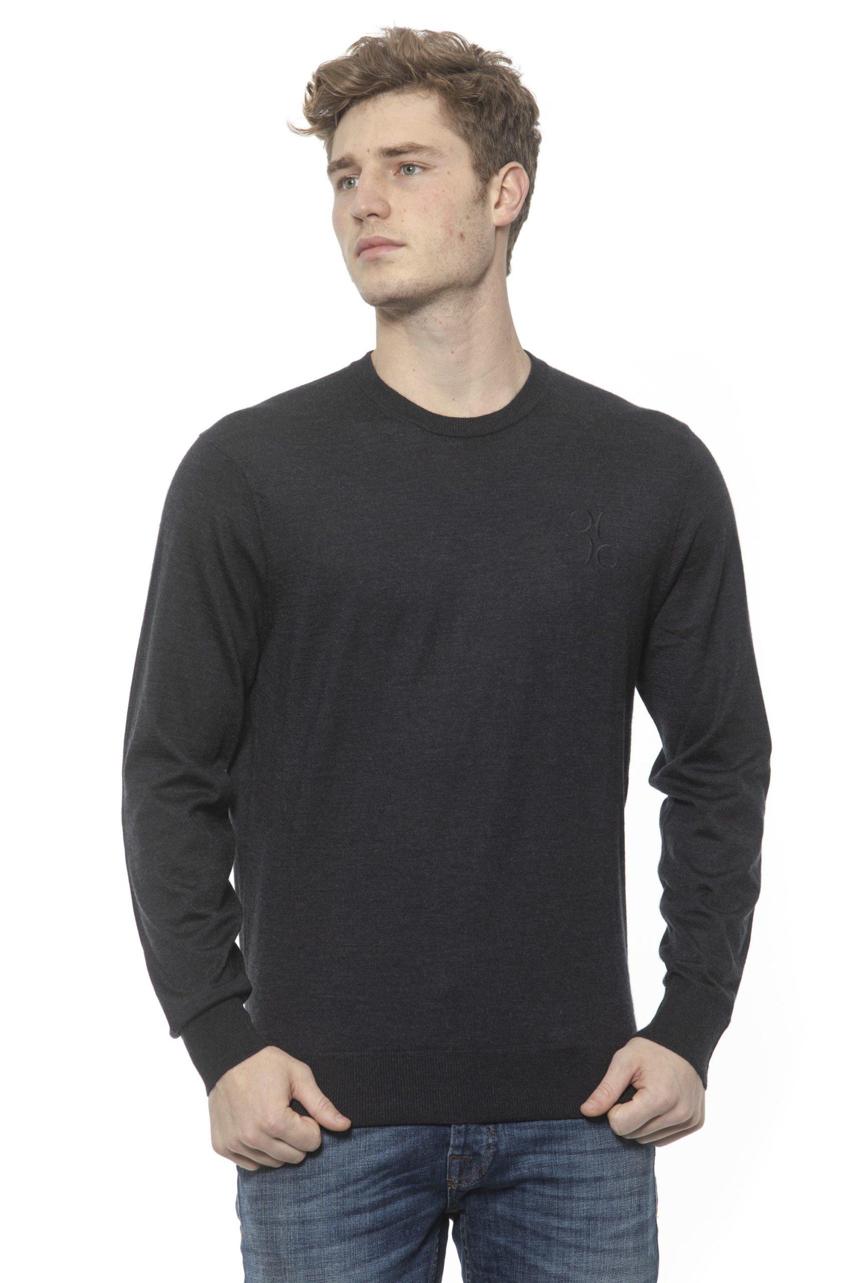 Billionaire Italian Couture Men's Anthracite Sweater White BI1313561 - M