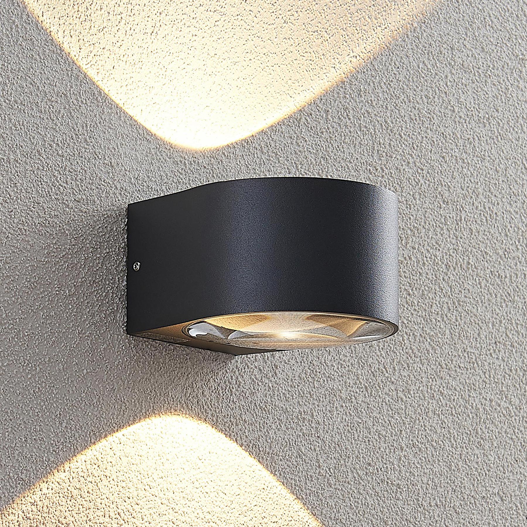 Lucande Astrida -LED-ulkoseinävalaisin, 2-lamp.