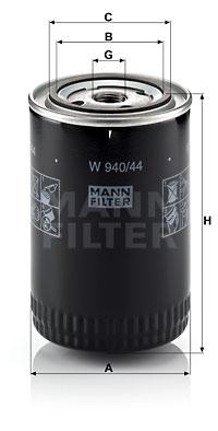 Öljynsuodatin MANN-FILTER W 940/44