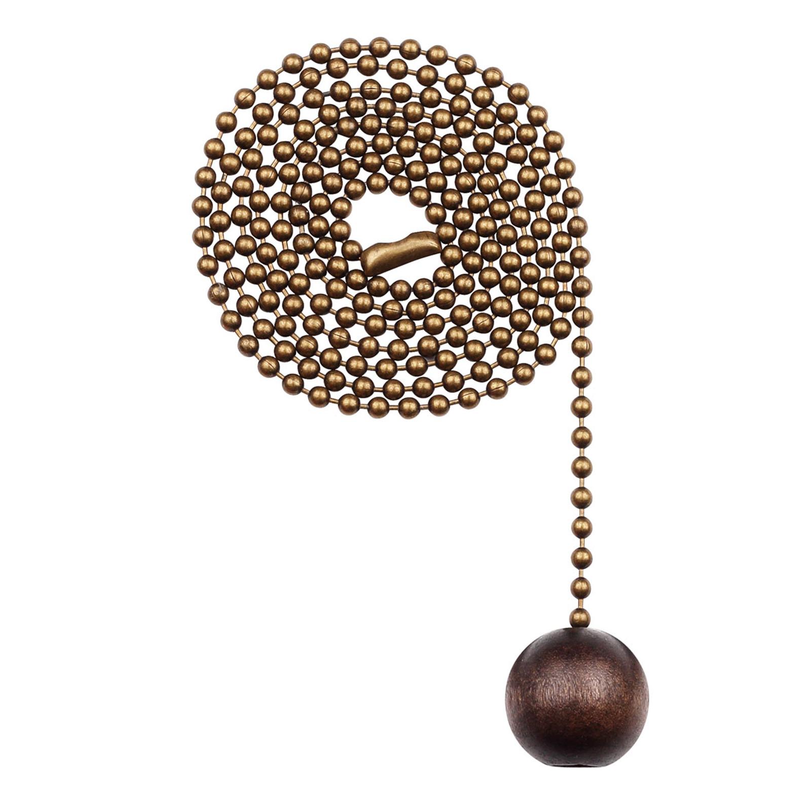 Westinghouse pähkinäpuupallo-vetokettinki messinki