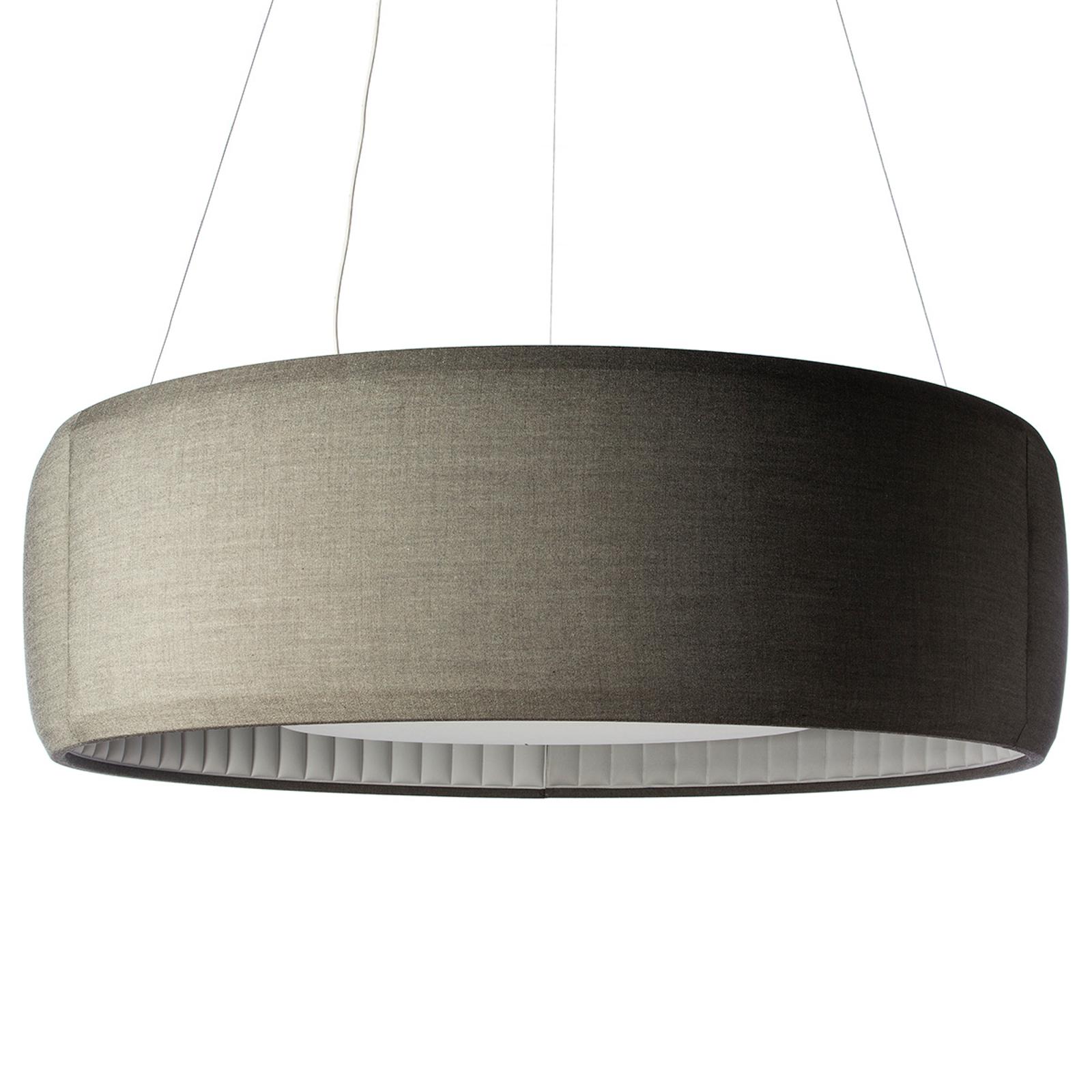 Luceplan Silenzio LED-riippuvalaisin harmaa Ø150cm