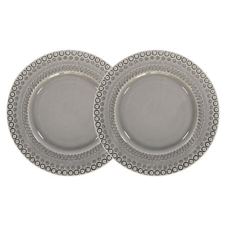 DAISY Middagstallrik Soft Grey 29 cm 2-pack