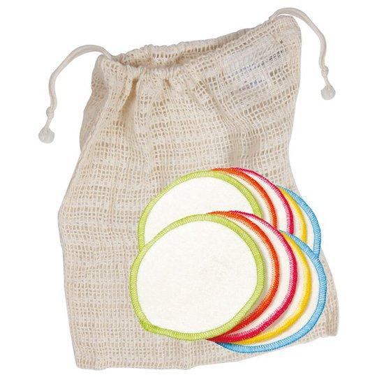 Anaé Ekologiska Rengöringspads Bomull, 10-pack + Tvättpåse