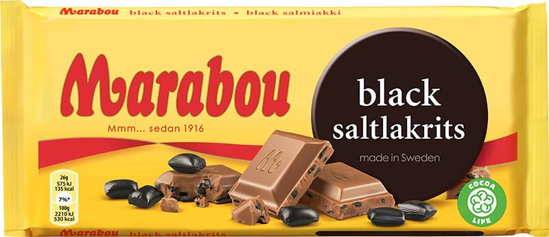 Marabou- Black Saltlakrits 180G