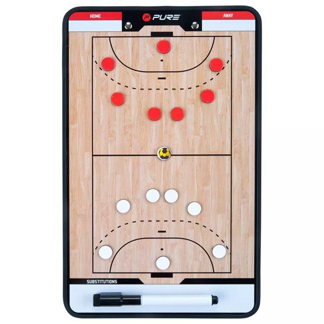 vidaXL Dubbelsidig taktikplatta för handboll 35x22 cm