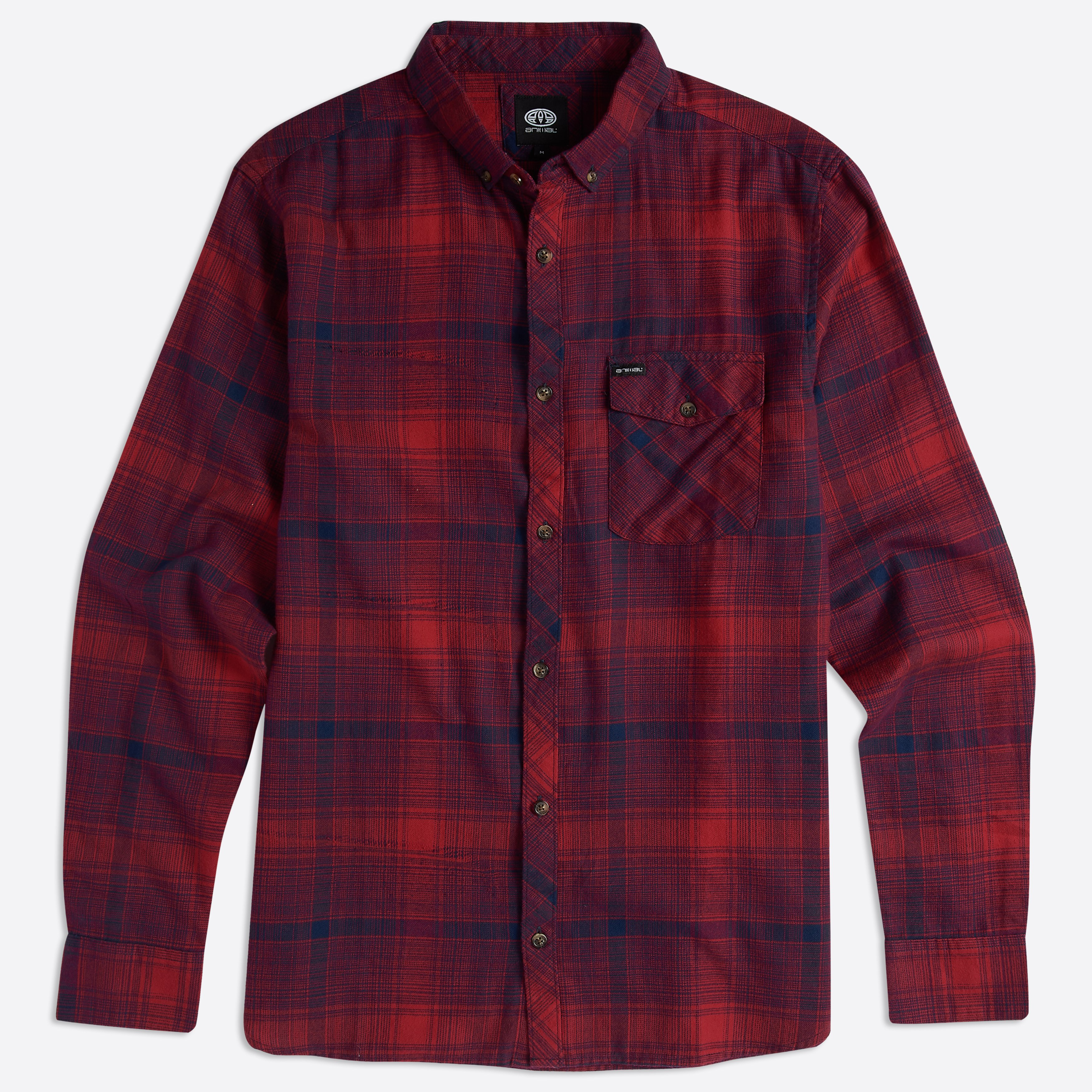 Animal Clothing Men's Shadow Shirt Various Colours 5057652286998 - S Red