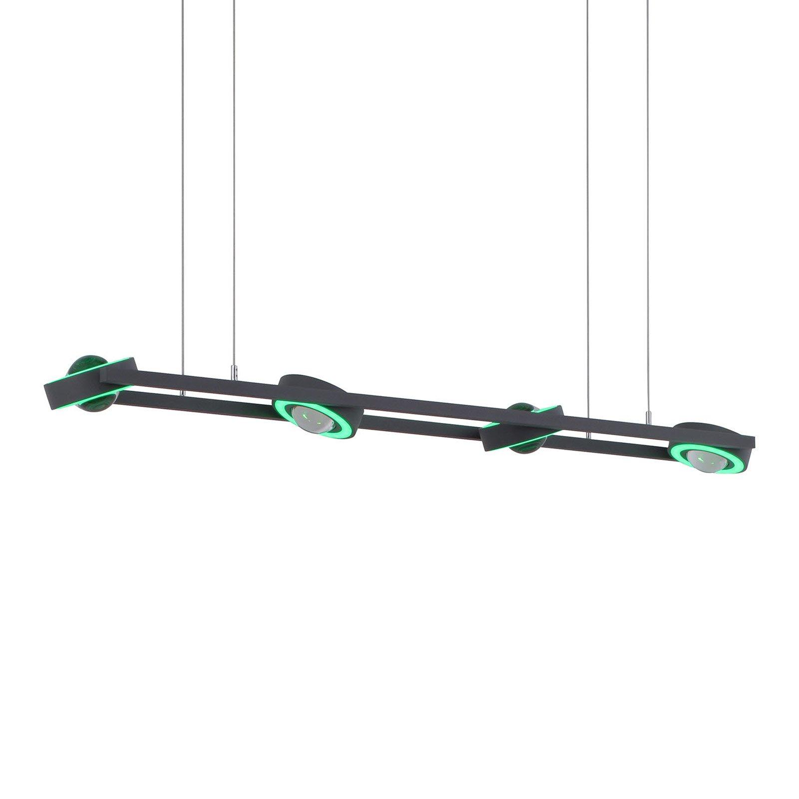 Paul Neuhaus Q-MIA LED-hengelampe, antrasitt