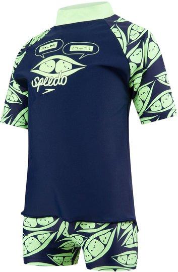 Speedo Wonderjump UV-Sett, Navy/Bright Zest 86