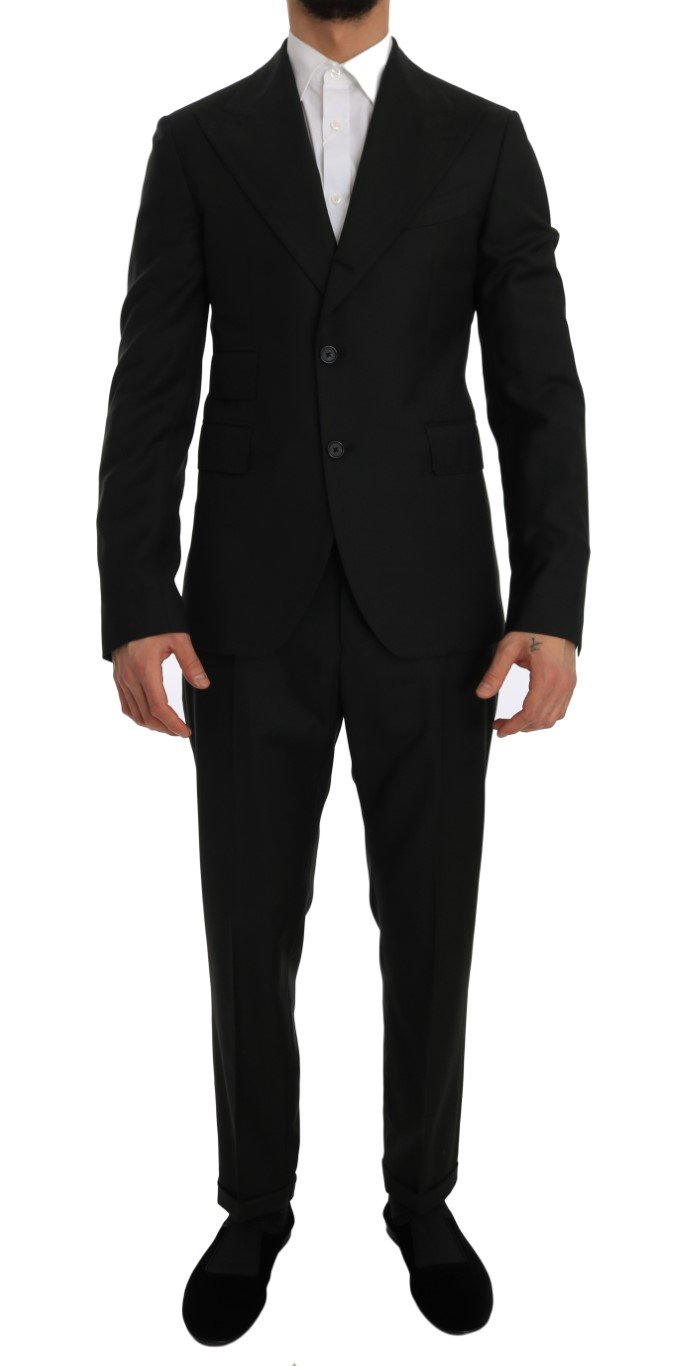 Dolce & Gabbana Men's Wool Two Button Slim Fit Blazer Suit Green JKT1246 - IT48 | M
