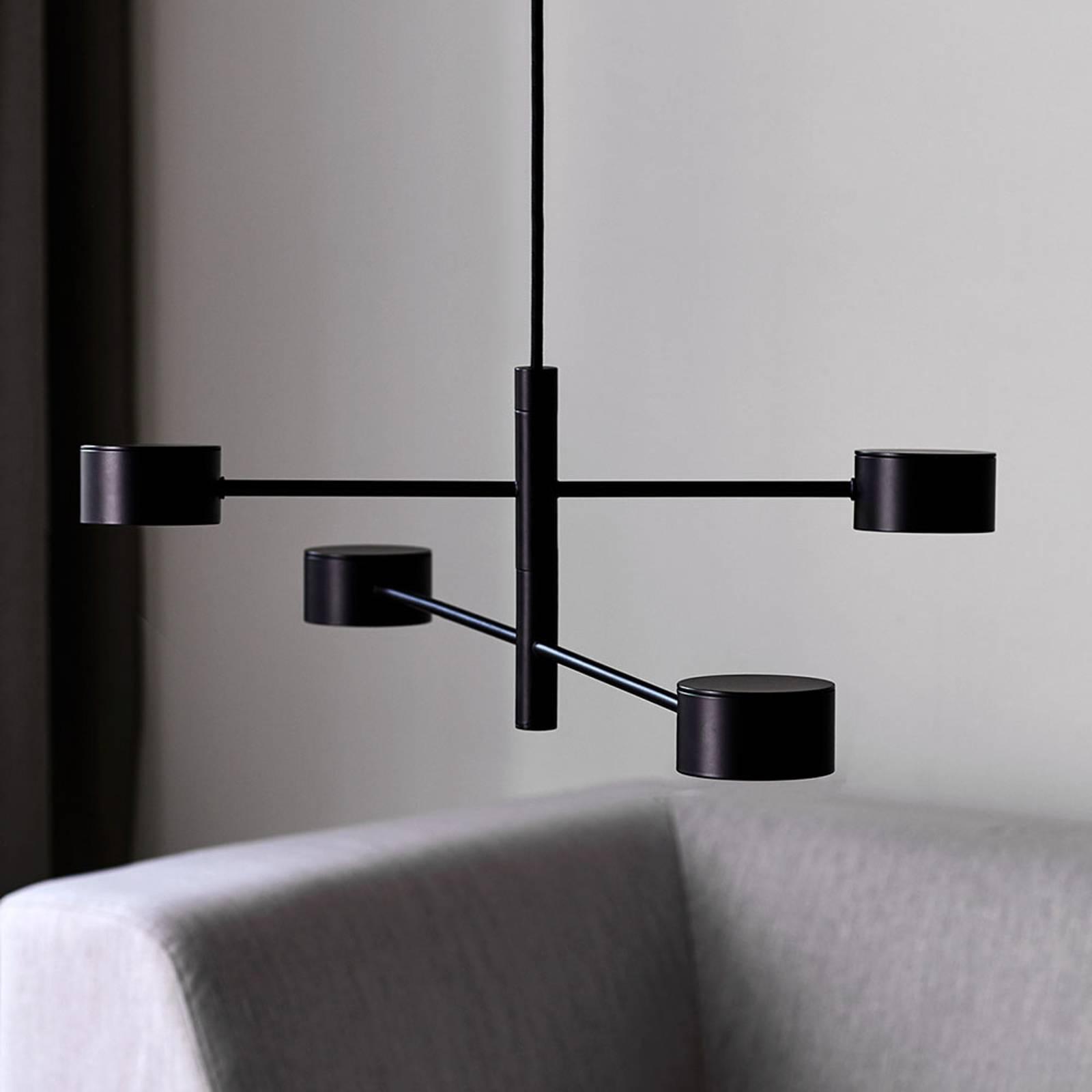 LED-riippuvalaisin Clyde, nelilamppuinen