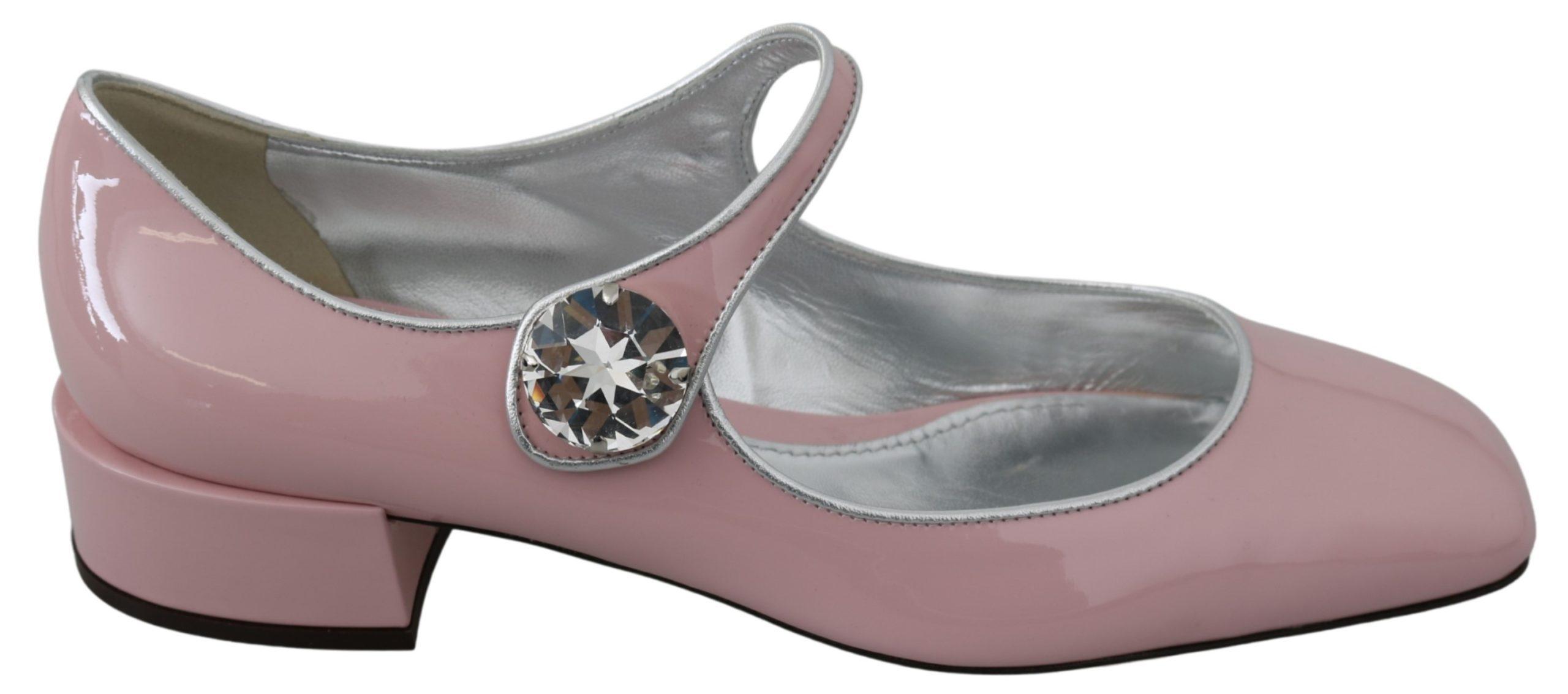 Dolce & Gabbana Women's Leather Crystal Sandal Pink LA7330 - EU39/US8.5