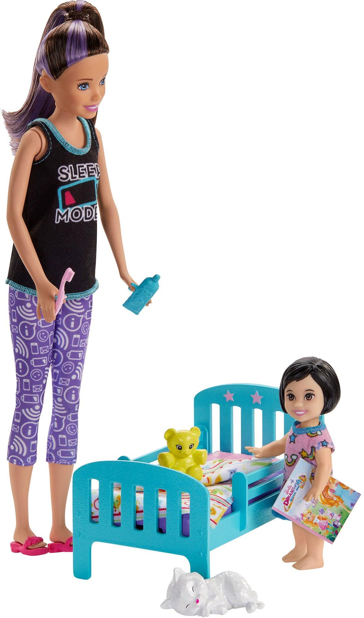 Barbie Skipper Babysitters Bedtime Leikkisetti + Nukke