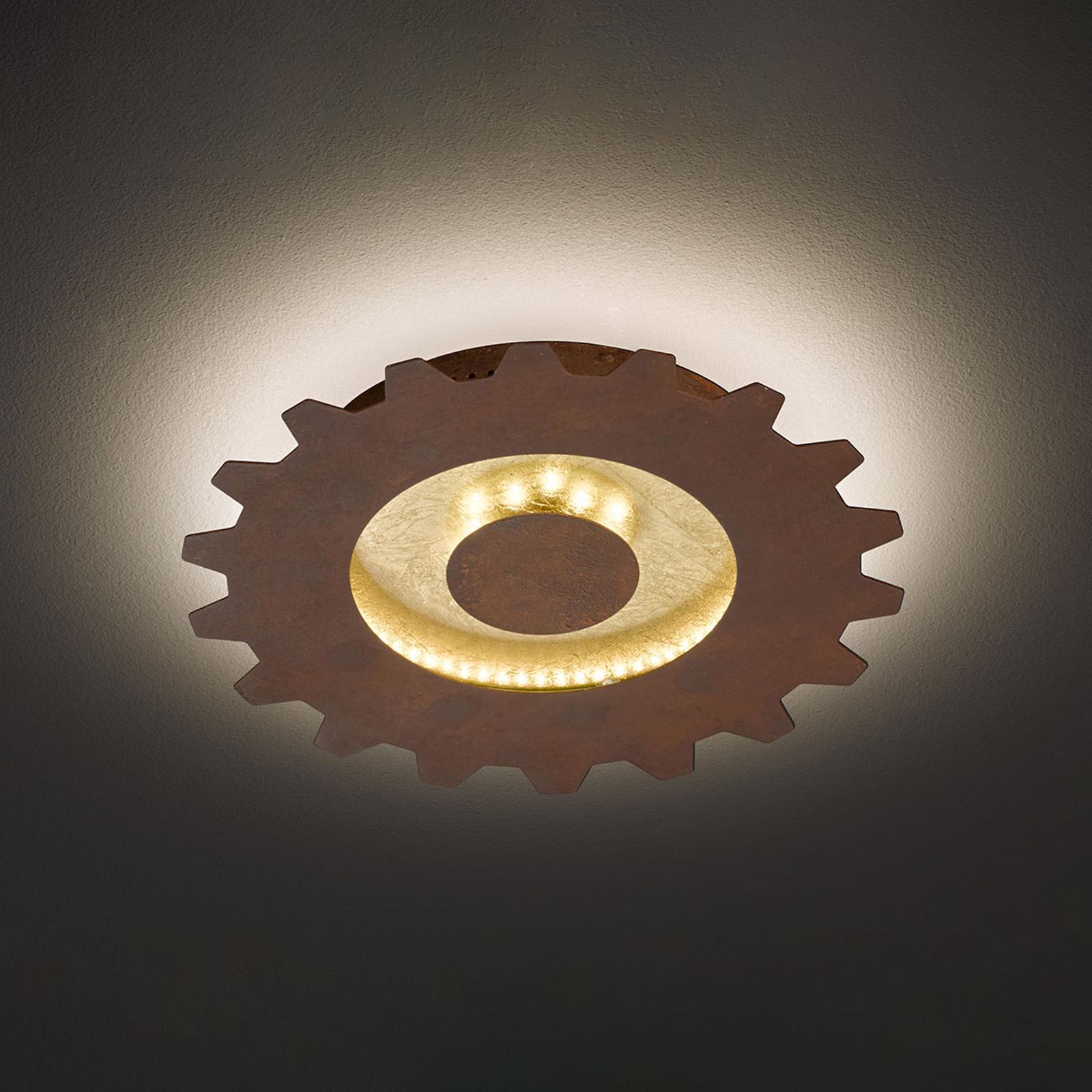 LED-kattovalaisin Leif, hammaspyörä, Ø 30 cm