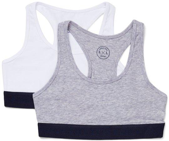 Luca & Lola Monica Topp 2-pack, Grey/White 134-140