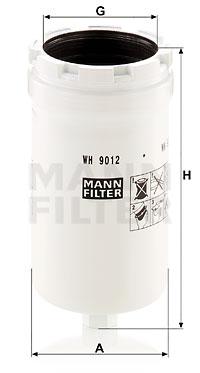 Suodatin, työhydrauliikka MANN-FILTER WH 9012