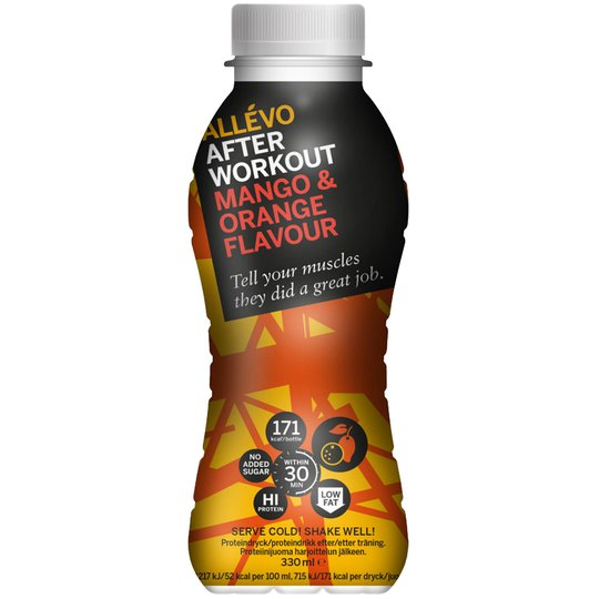 "Proteindryck ""Orange & Mango"" 330ml - 66% rabatt"