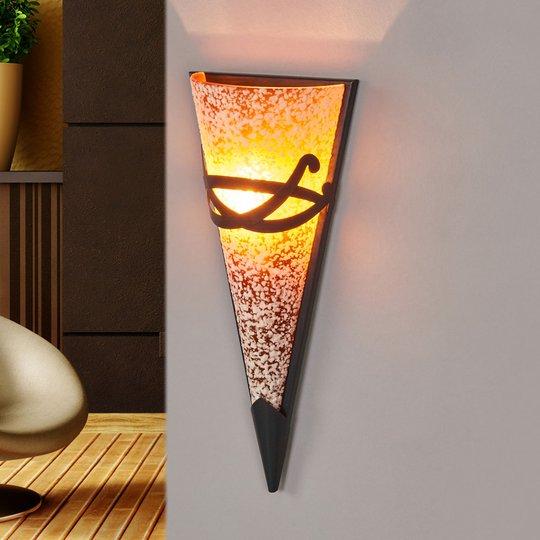 Spraglet vegglampe MELINDA med dekor