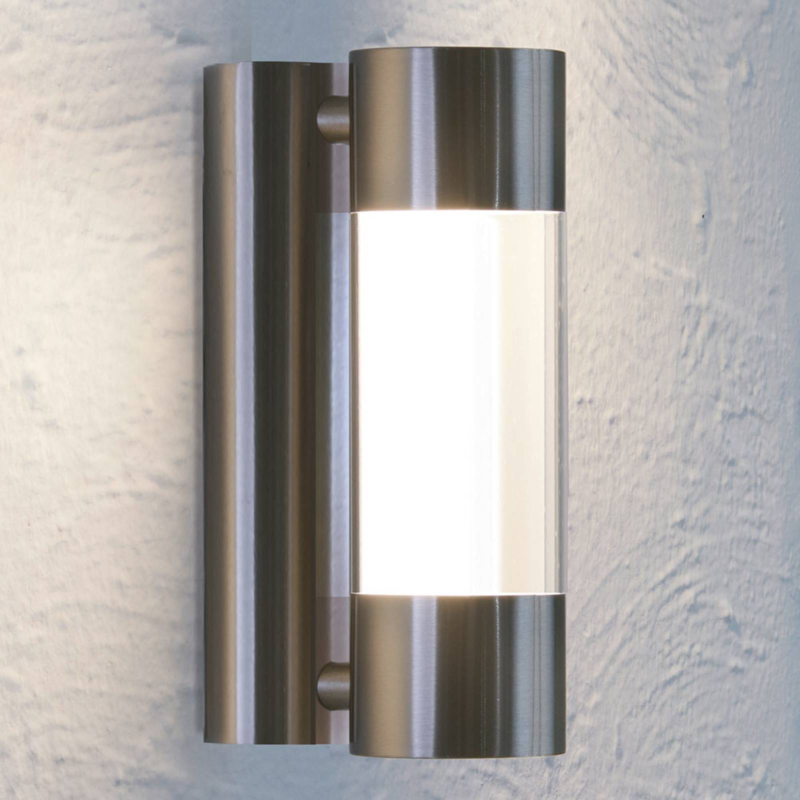 LED-ulkoseinävalaisin Robledo, ruostumaton teräs