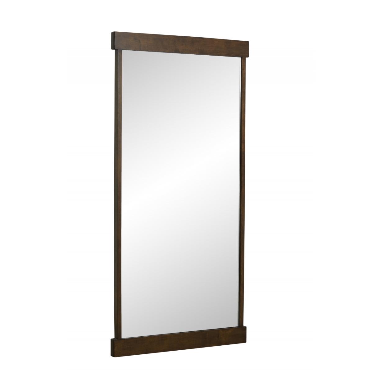 Spegel mörk träram 180 cm Nordal