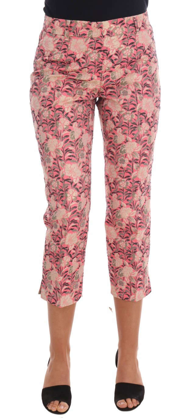 Dolce & Gabbana Women's Floral Brocade Capri Trouser Multicolor PAN61114 - IT38|XS