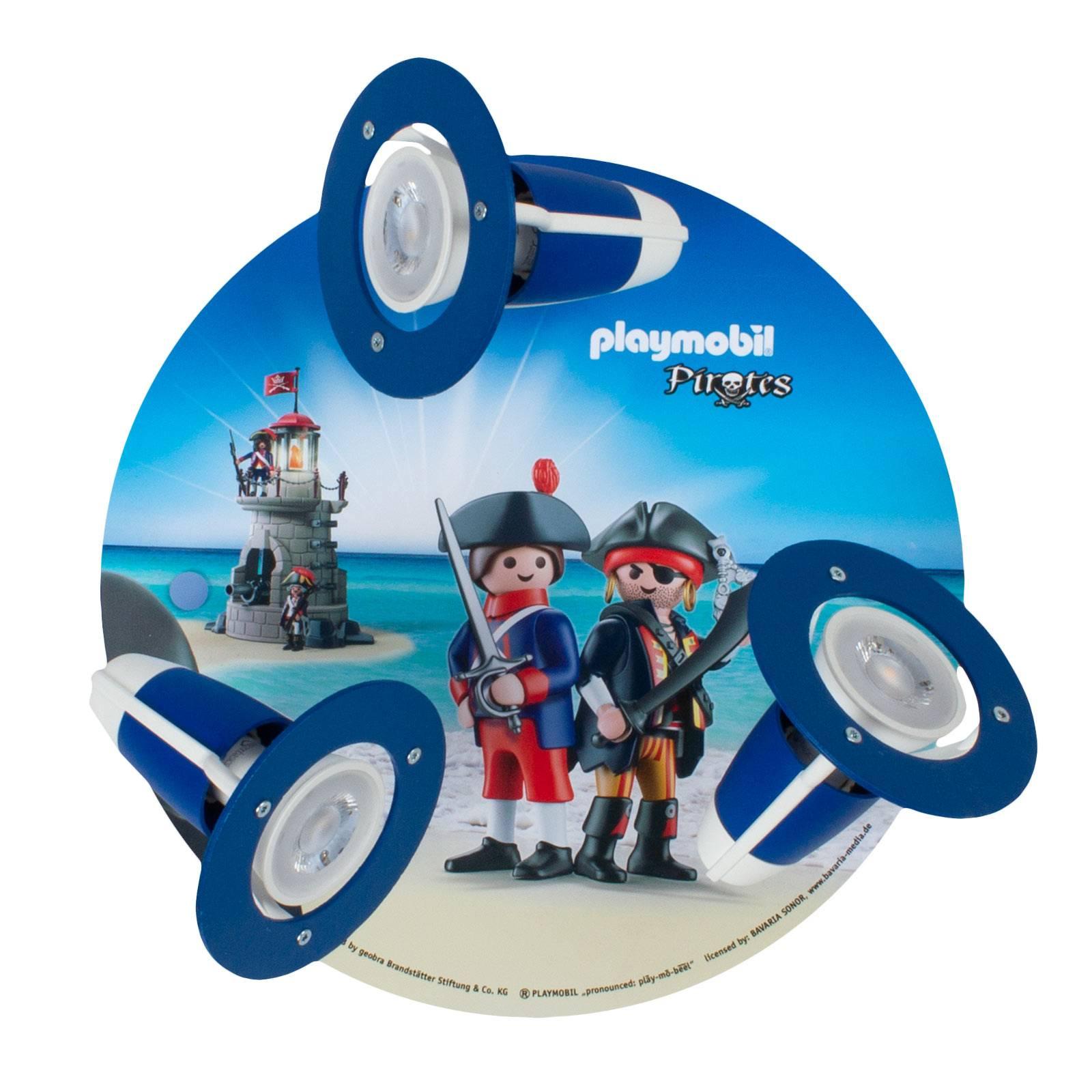 Kattovalaisin Spot PLAYMOBIL Pirates, 3-lamppuinen