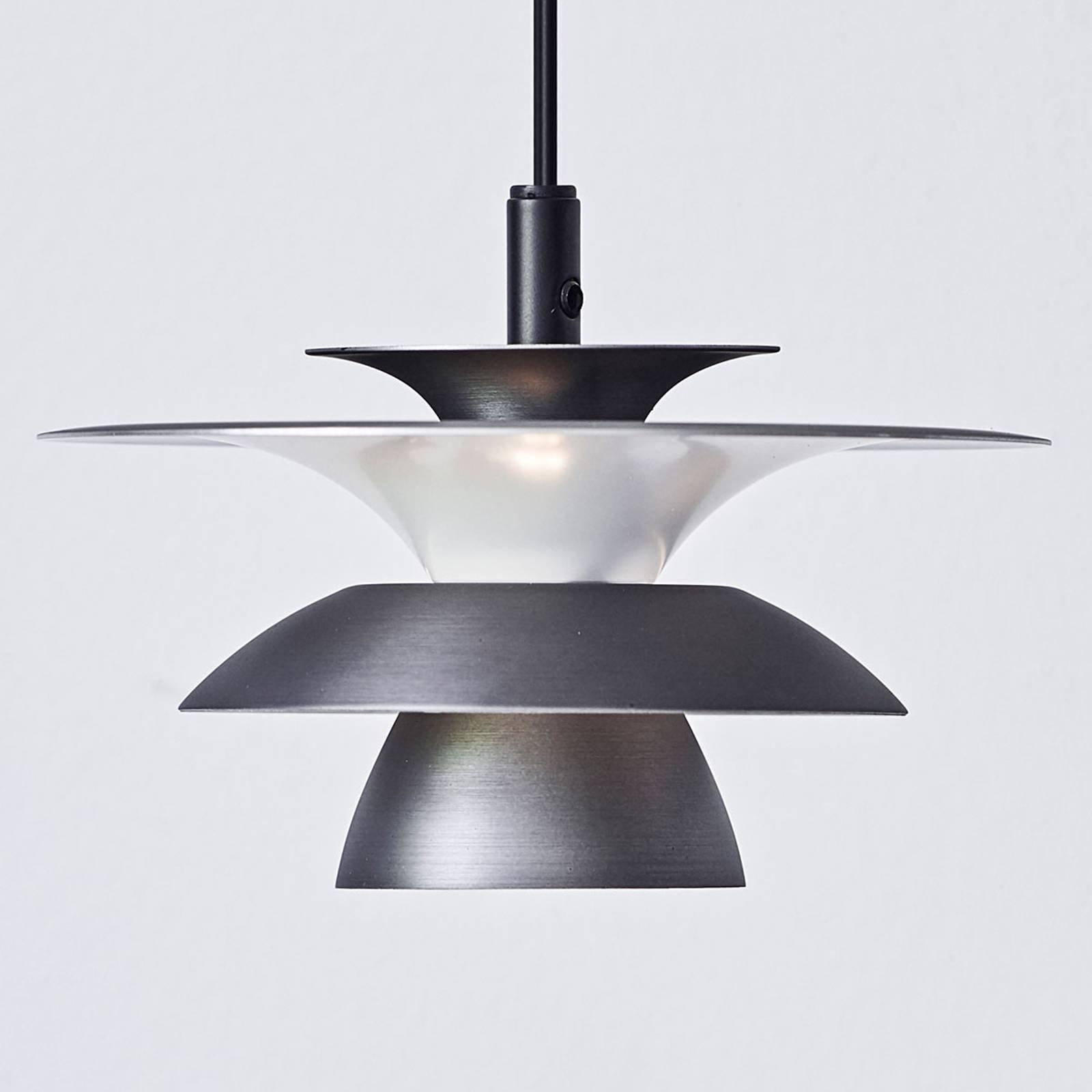 LED-pendellampe Picasso 1 lyskilde Ø 18cm oksidgrå