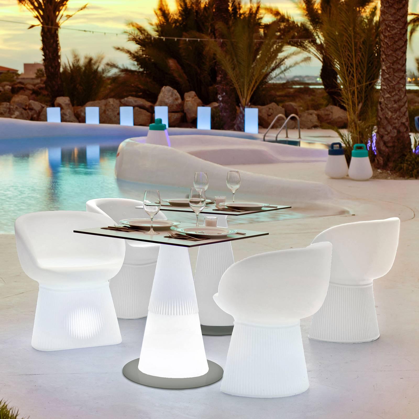 Newgarden Itaca-LED-pöytä, aurinkokäyttöinen, akku