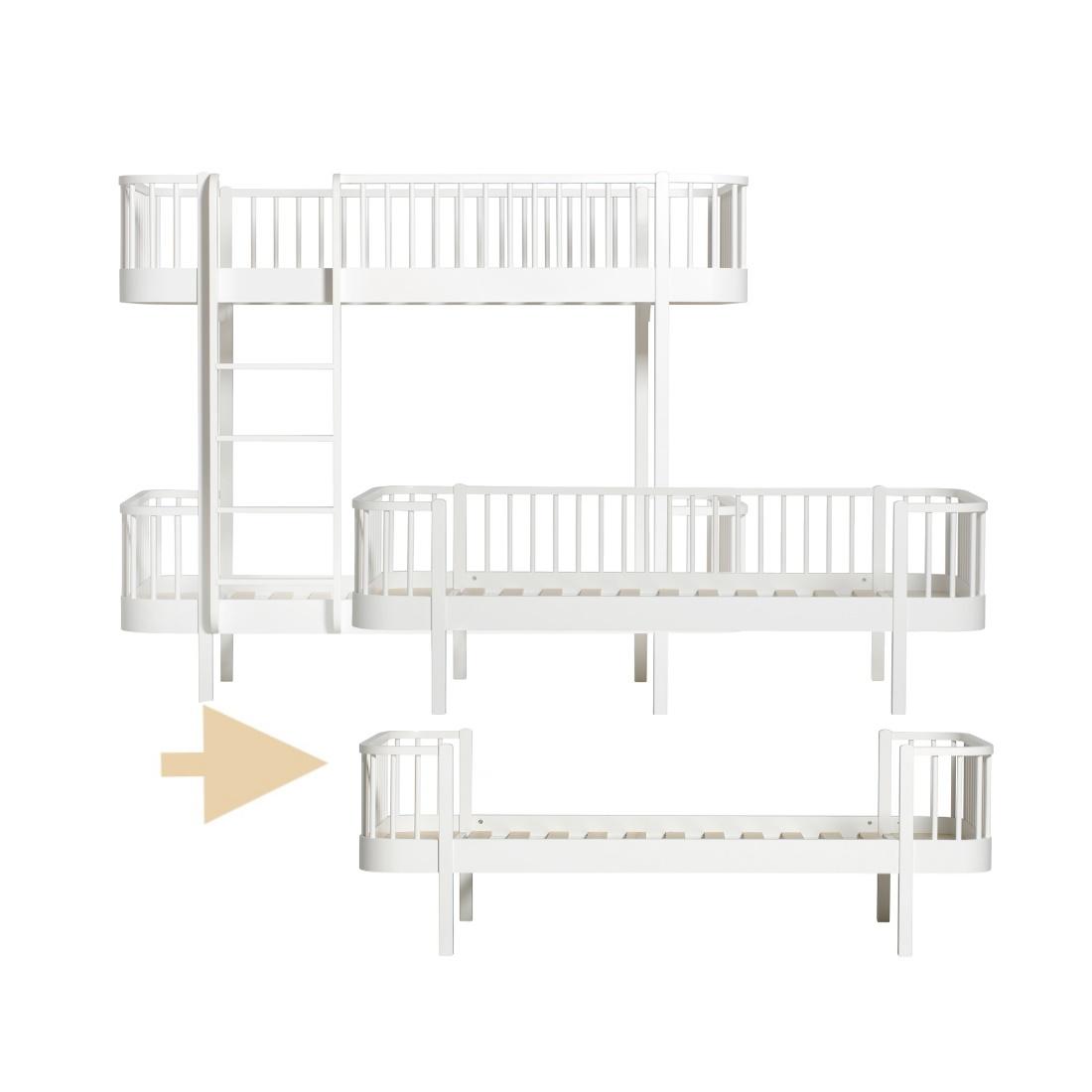 Ombyggnadsset Våningssäng till Säng & Dagbädd Wood