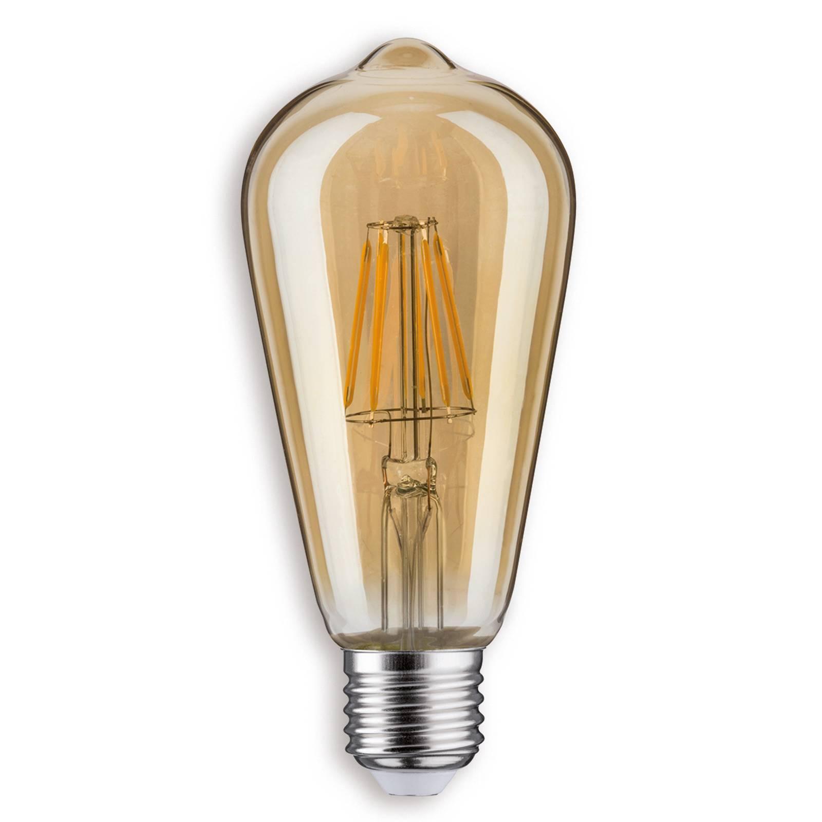 E27 7,5 W LED-rustiikkilamppu, kulta