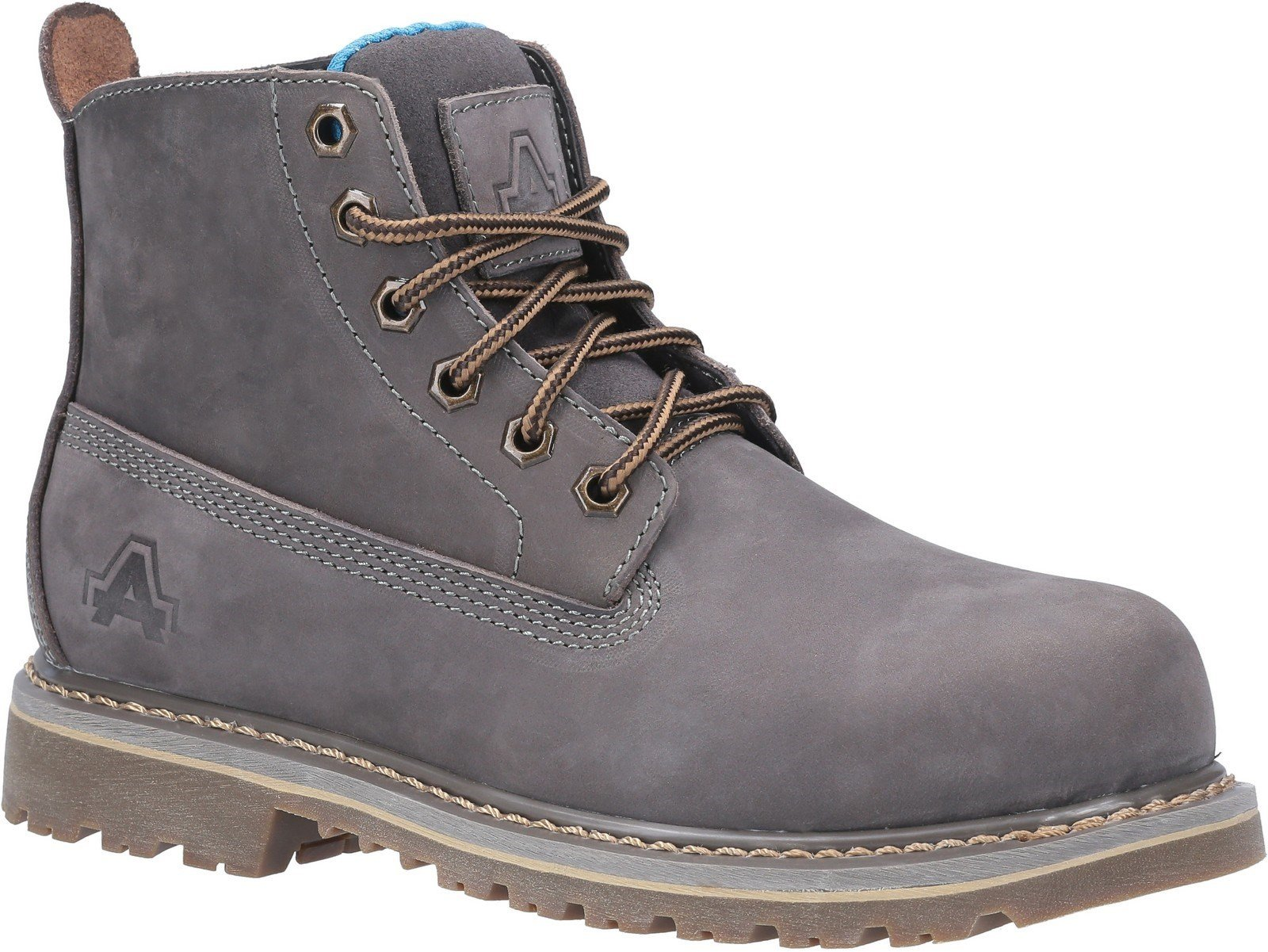 Amblers Women's Safety Mimi Lace Up Safety Boot Brown 29962 - Grey 3