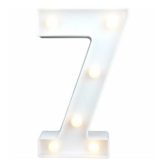 Siffra med LED-Belysning - Siffra 7