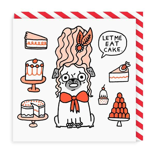 Let Me Eat Cake Birthday Square Greeting Card