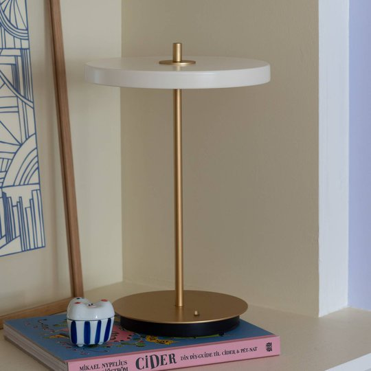 UMAGE LED-bordlampe Asteria move perlehvit
