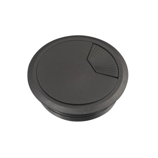 Schneider Electric Unica Kaapelin läpivienti suljettu, 80 mm Musta