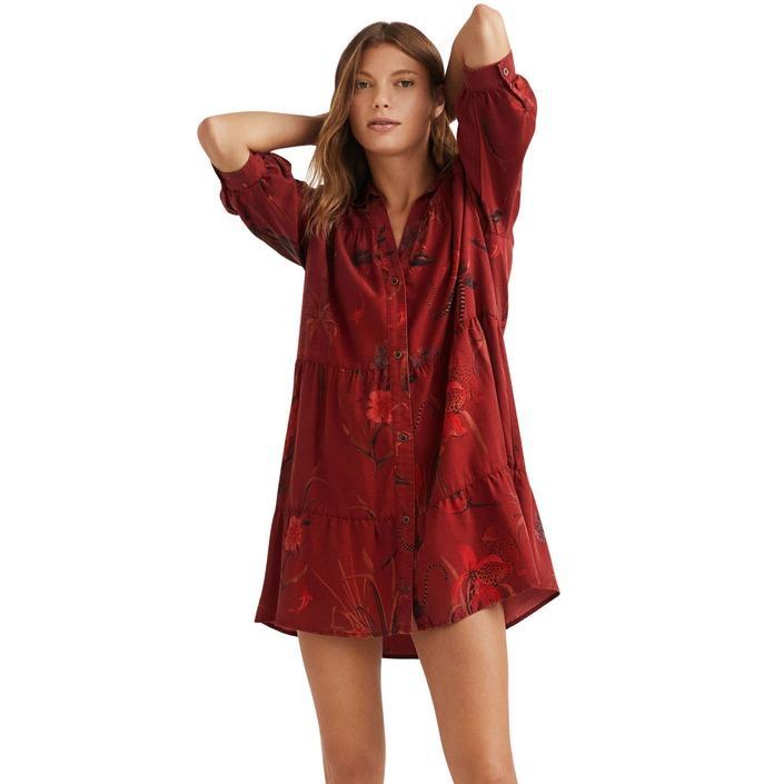 Desigual - Desigual Women Dress - bordeaux S