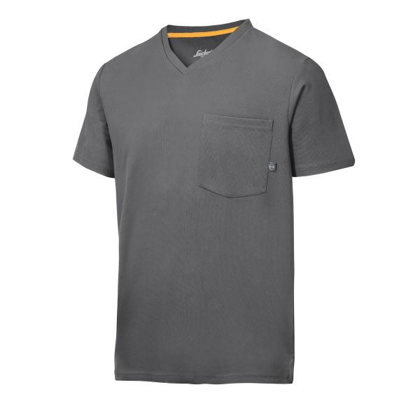 Snickers 2524 AllroundWork T-skjorte grå, v-utringet XS
