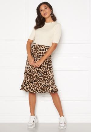 Happy Holly Sandy frill skirt Leopard 32/34