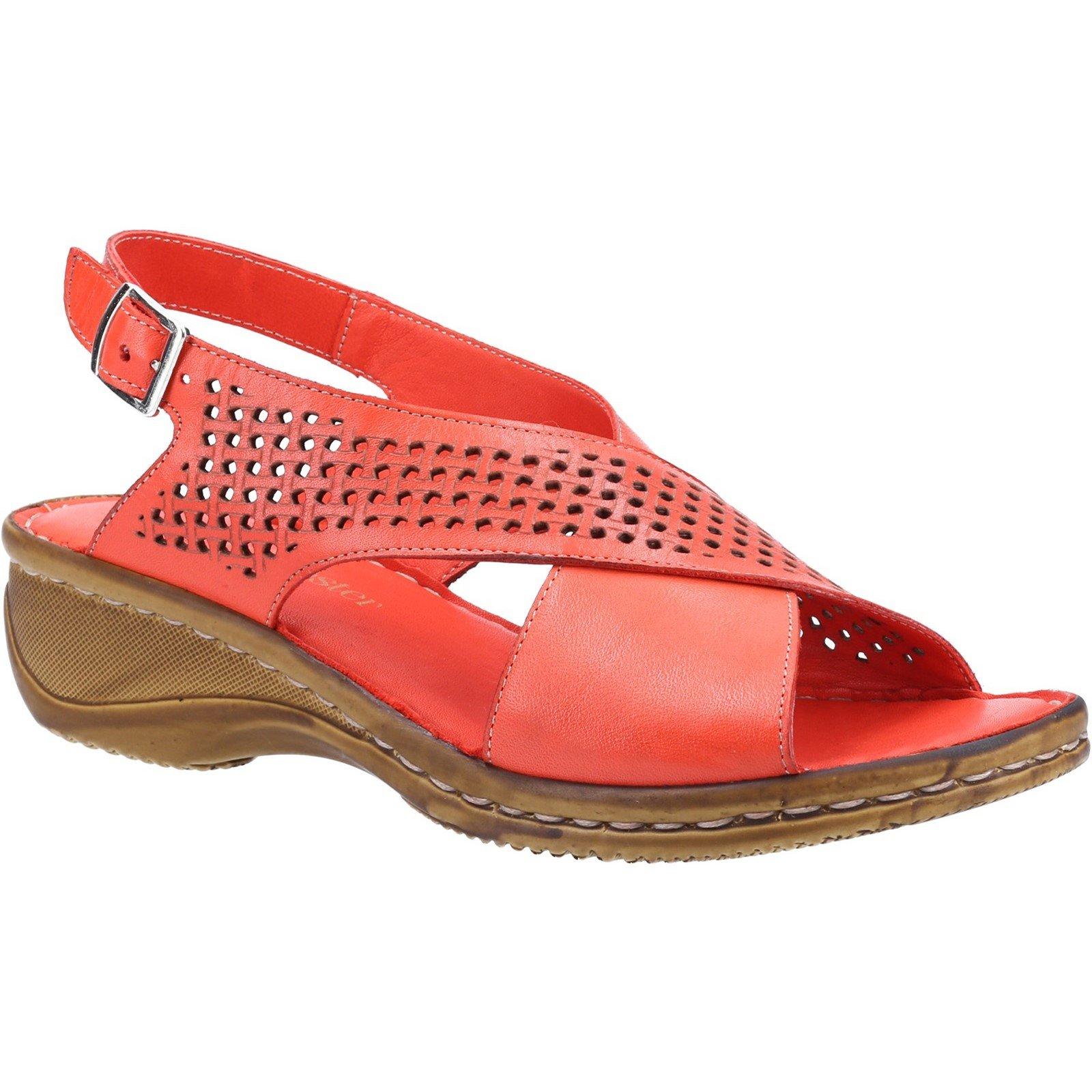 Fleet & Foster Women's Judith Open Toe Sandal Various Colours 31915 - Red 3