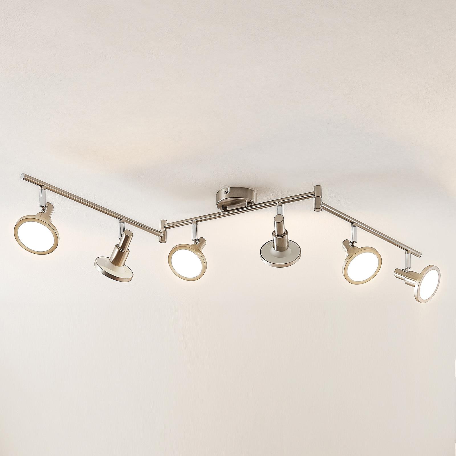 Lindby Unnur -LED-kohdevalaisin, 6-lamppuinen