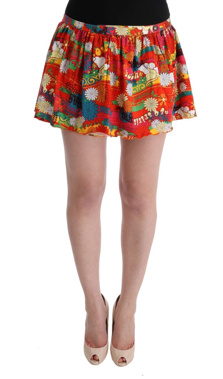 Dolce & Gabbana Women's Floral Print Beachwear Skirt Multicolor SIG32599 - IT2   S