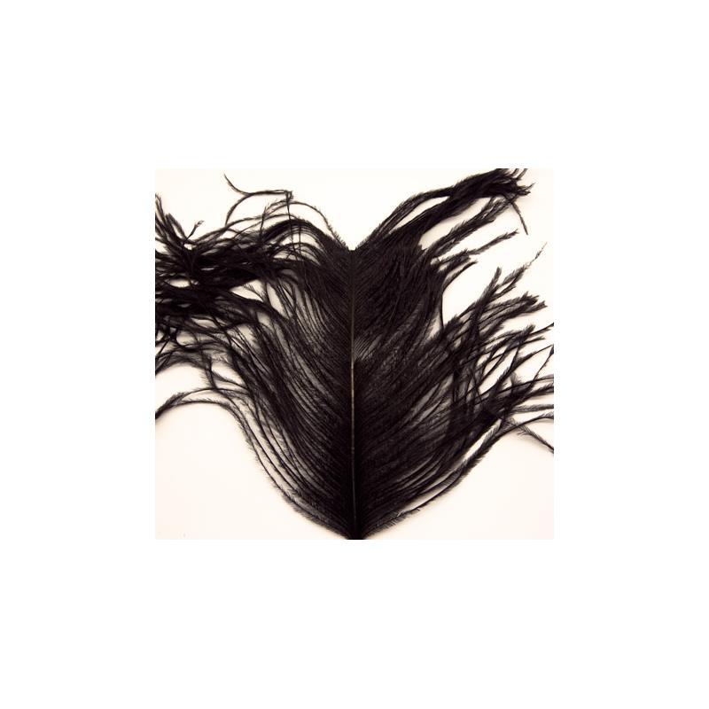 Ostrich Herl - Black Wapsi