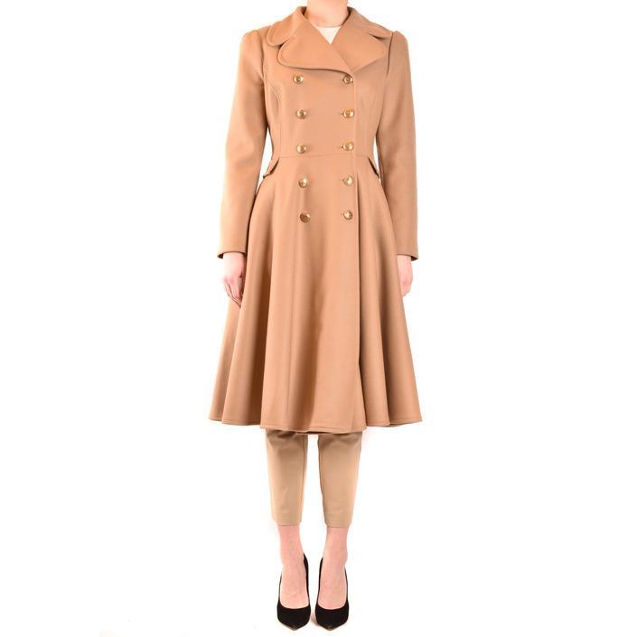 Elisabetta Franchi Women's Coat Beige 198676 - beige 44