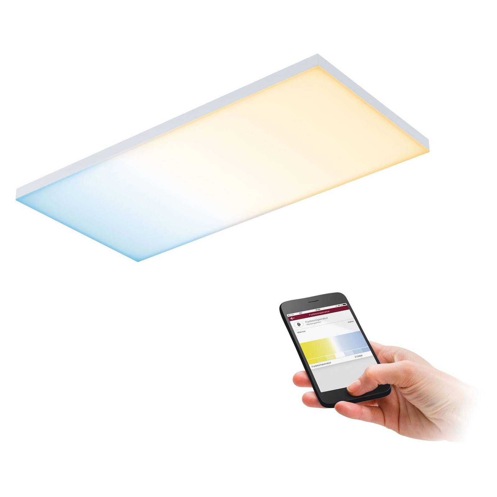 Paulmann Velora -LED-paneeli Zigbee 59,5 x 29,5 cm